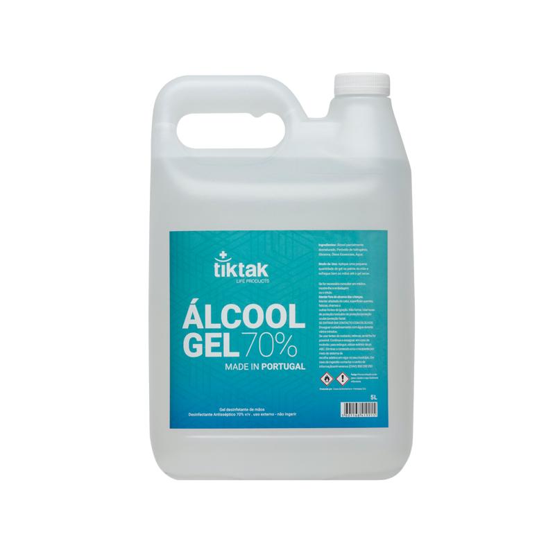 Álcool Gel 70% TIKTAK 5LTR
